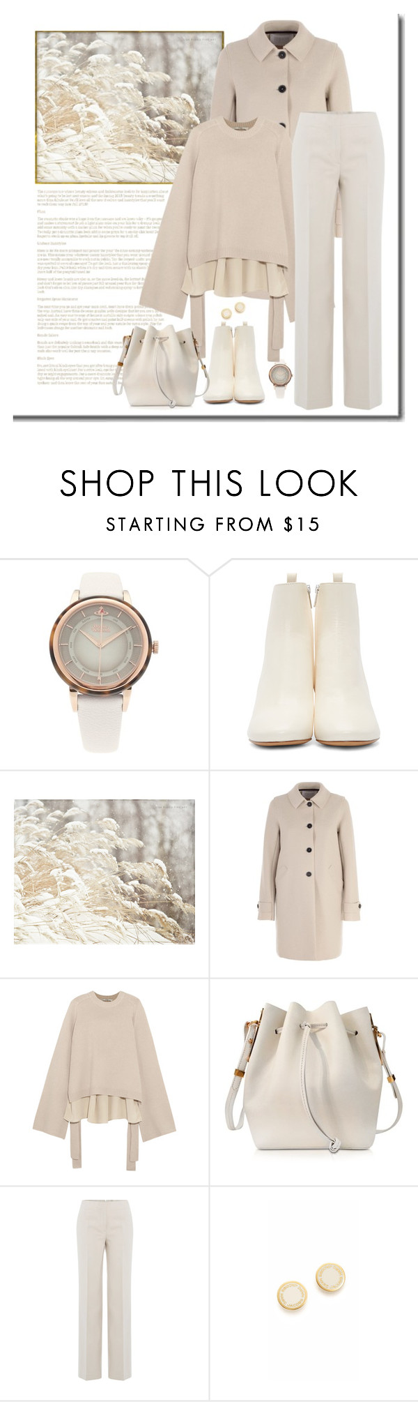 """Shades of Cream"" by terry-tlc ❤ liked on Polyvore featuring Vivienne Westwood, Isabel Marant, Harris Wharf London, TIBI, Sophie Hulme, Helmut Lang, Marc Jacobs, Winter, contest and fashionset"