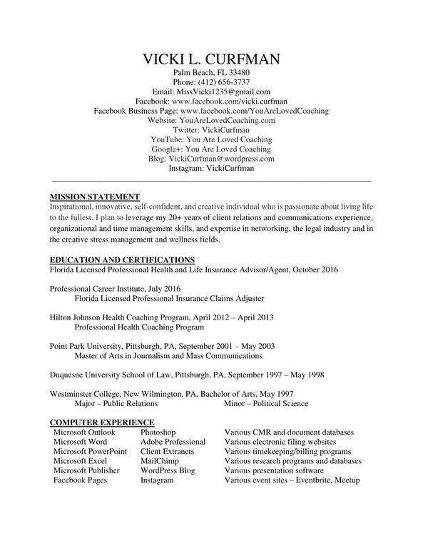Vicki Curfman - #Communications Resume~ via @VickiCurfman - resume mission statement