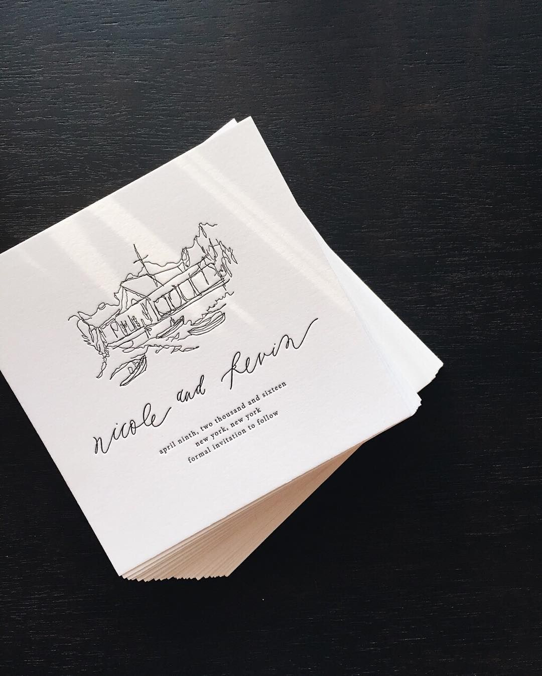 next day wedding invitations%0A So grateful to have worked with Nicole and Kevin on the wedding stationery  announcing their big day  coming up in a few short weeks in New York City