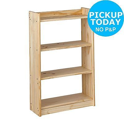 details about argos home light duty 4 shelf unfinished pine storage rh pinterest com