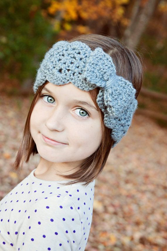 Crochet Headband Pattern, Turban Headband, Lacy Head Warmer, Baby ...