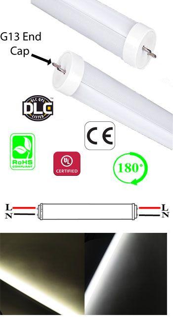 Led T8 4 Foot 18w Type A B Dlc 100 277vac G13 Household Ledlight Led Tube Light Led Tubes Led