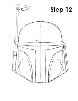 Draw Boba Fett Boba Fett Helmet