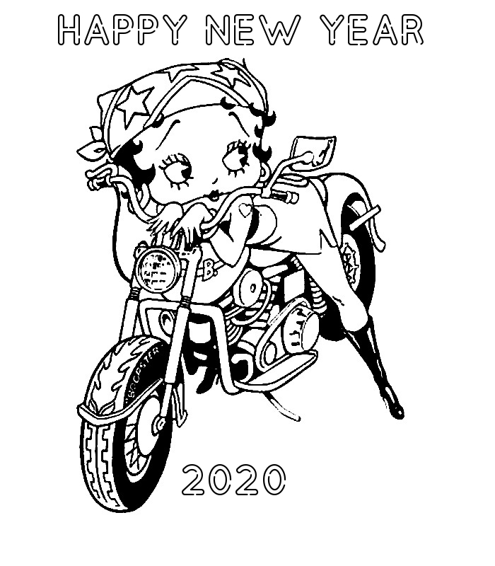 Betty Boop New Year Coloring Pages Cartoon Coloring Pages Coloring Pages New Year Coloring Pages