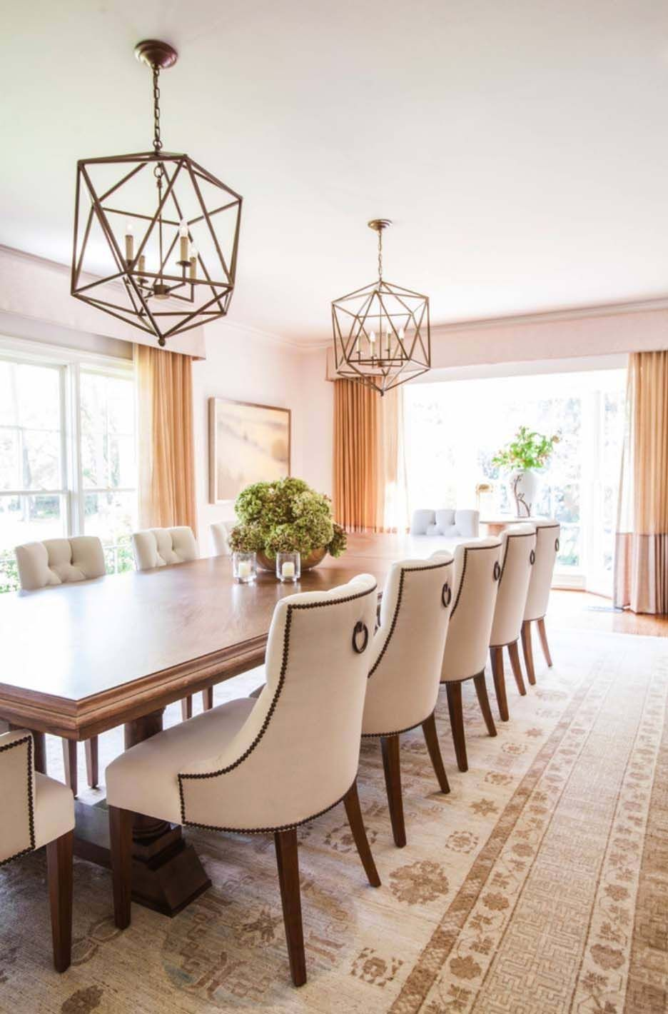 colonial style home in texas gets fresh and breezy makeover dining rh pinterest com