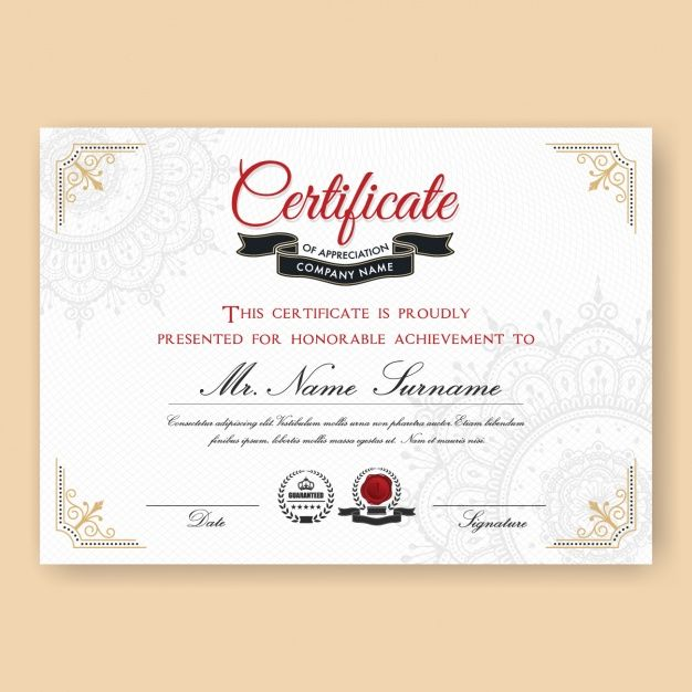 Certificate template design free vector certificate pinterest certificate template design free vector yelopaper Choice Image