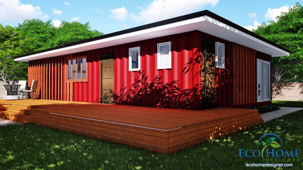 SCH11 3 x 40ft 2 Bedroom Container Home 041 containerhomeplans SCH11 3 x 40ft 2 Bedroom Container Home 041 containerhomeplans