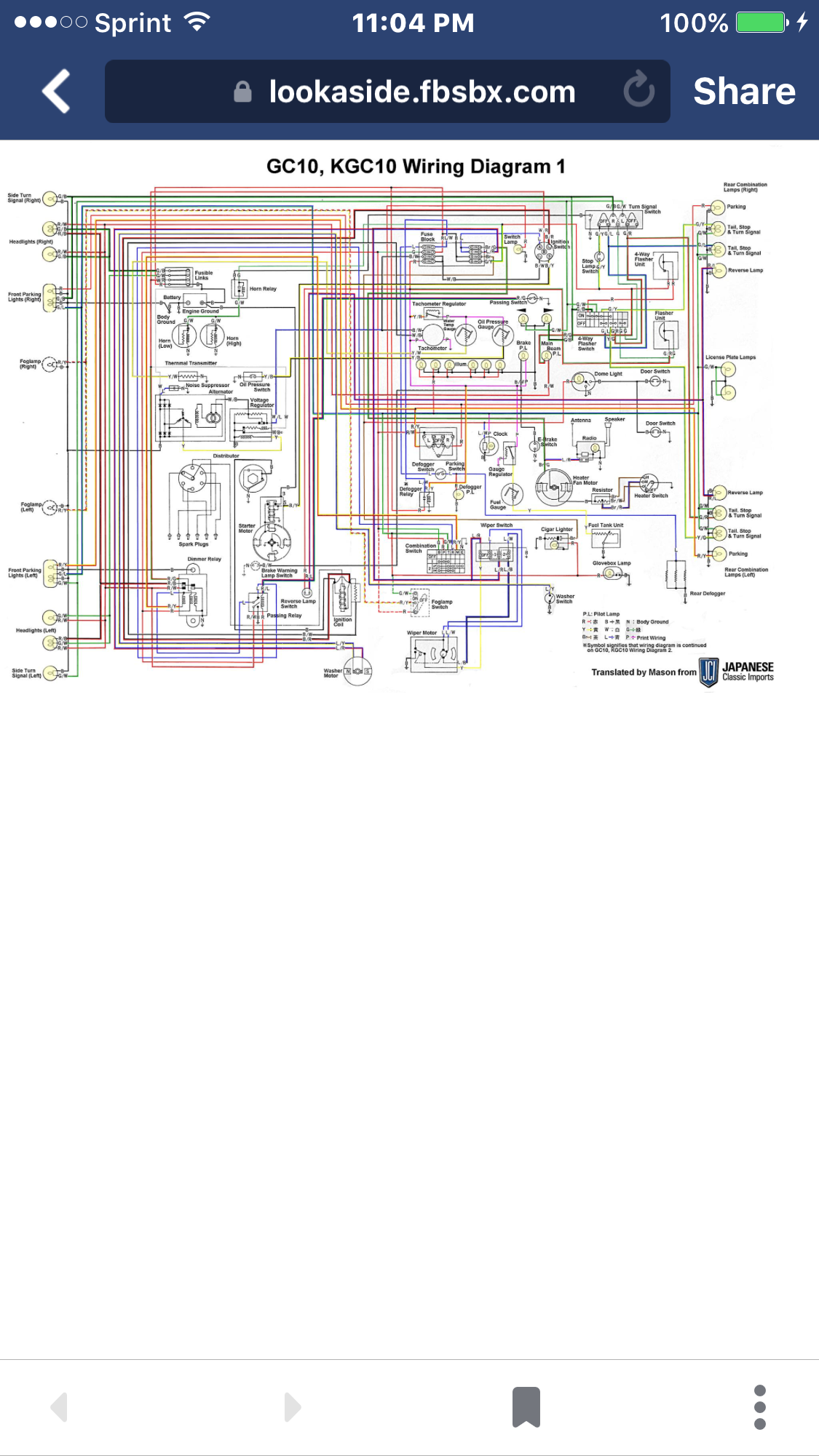 wiring diagram my hakosuka project and ideas pinterest rh pinterest com