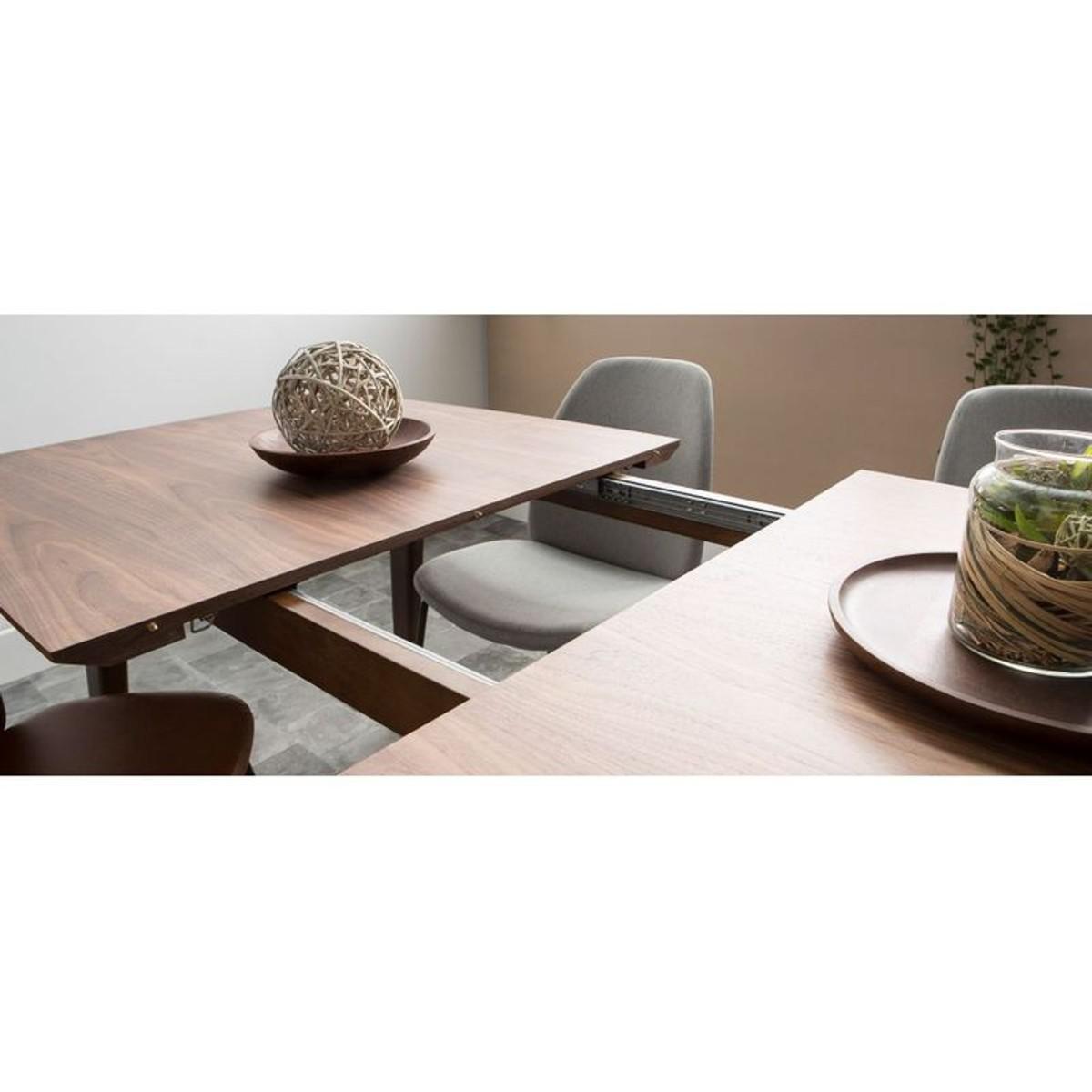 Table A Manger Design Extensible Noyer L180 230 Cm Fifties Taille 10 Pers Table A Manger Design Table A Manger Et Mobilier De Salon