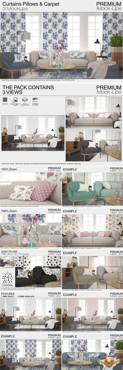 Curtainsamp; Pillows Set Carpet Carpet 2159216Mockups Pillows Curtainsamp; Set fgyYb6v7