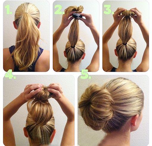 What Is The Cute Sock Bun And How Do You Wear It To College Haar Donut Haarspitzen Haar Styling