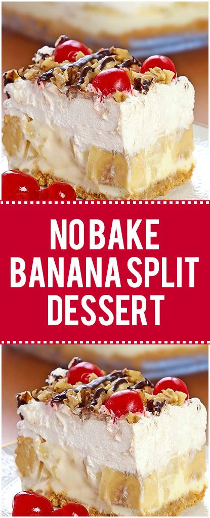 Delicious, rich and creamy, with all the ingredients you love in a banana split, this no-bake Banana Split dessert will be one you make again and again. Summer is quickly approaching and that means picnics, BBQ's, #bananapie