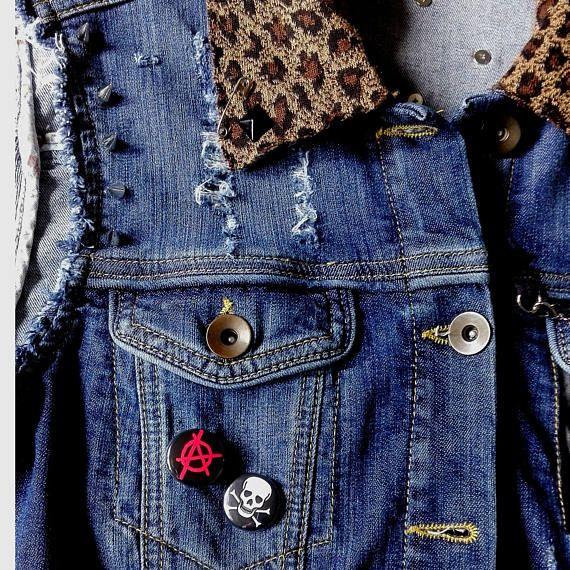 85ceb6a669479 Punk Studded Denim Vest Sleeveless Jacket Skull Customised