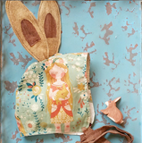 Bonnet ~ Woodland Mint with Bunny Ears