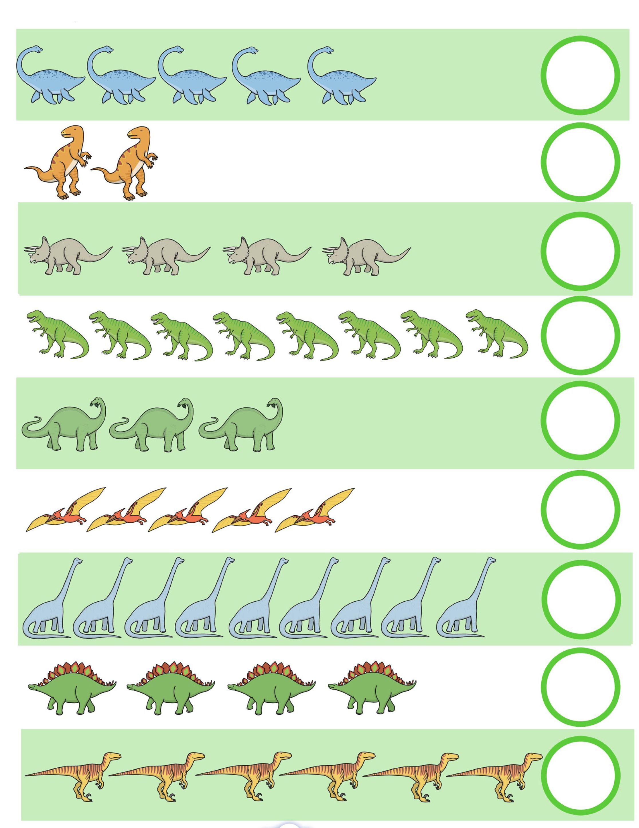 Werkblad Rekenen Dino S Dino S