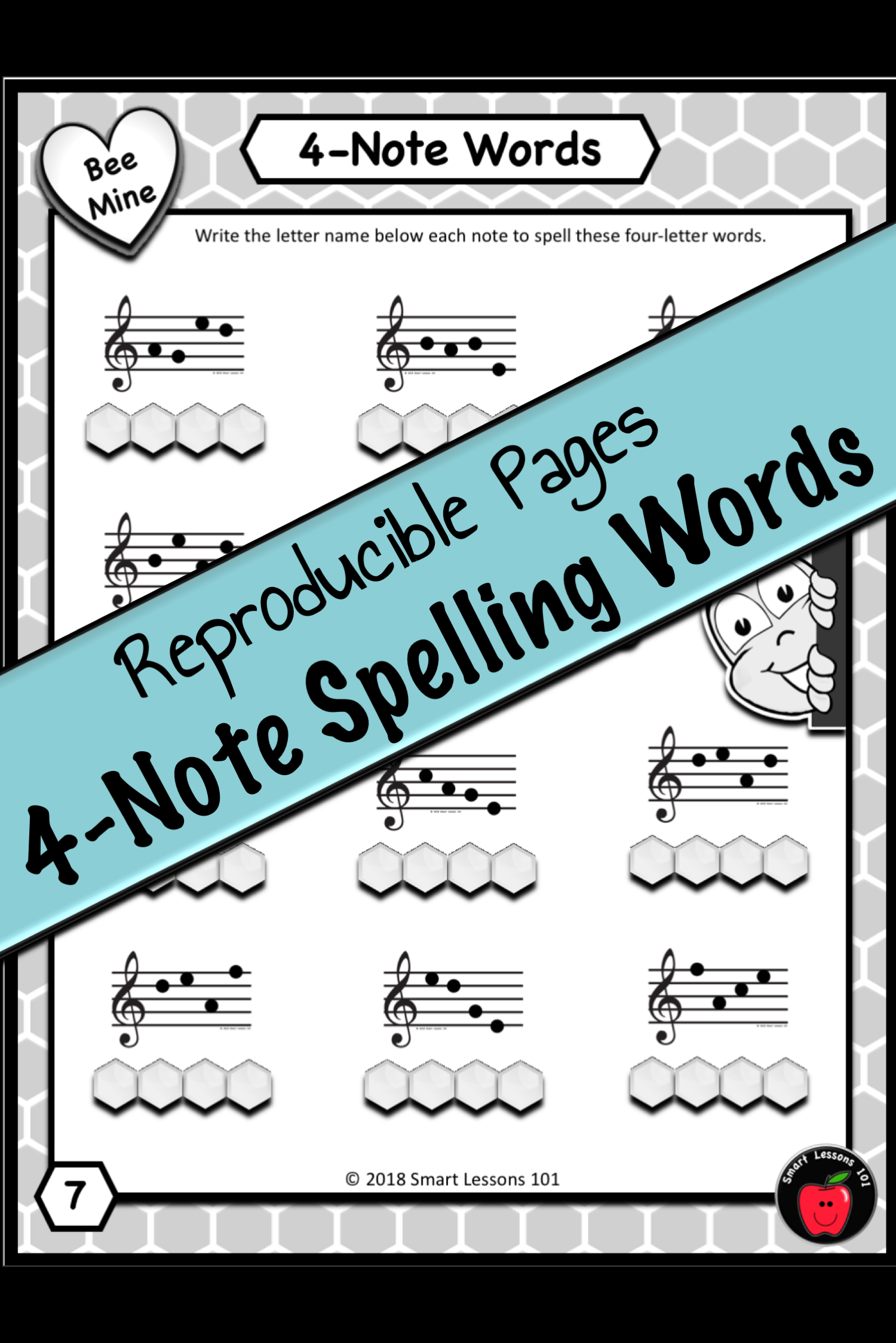 Valentines Day Music Bundle: Note Name Music Worksheets ...
