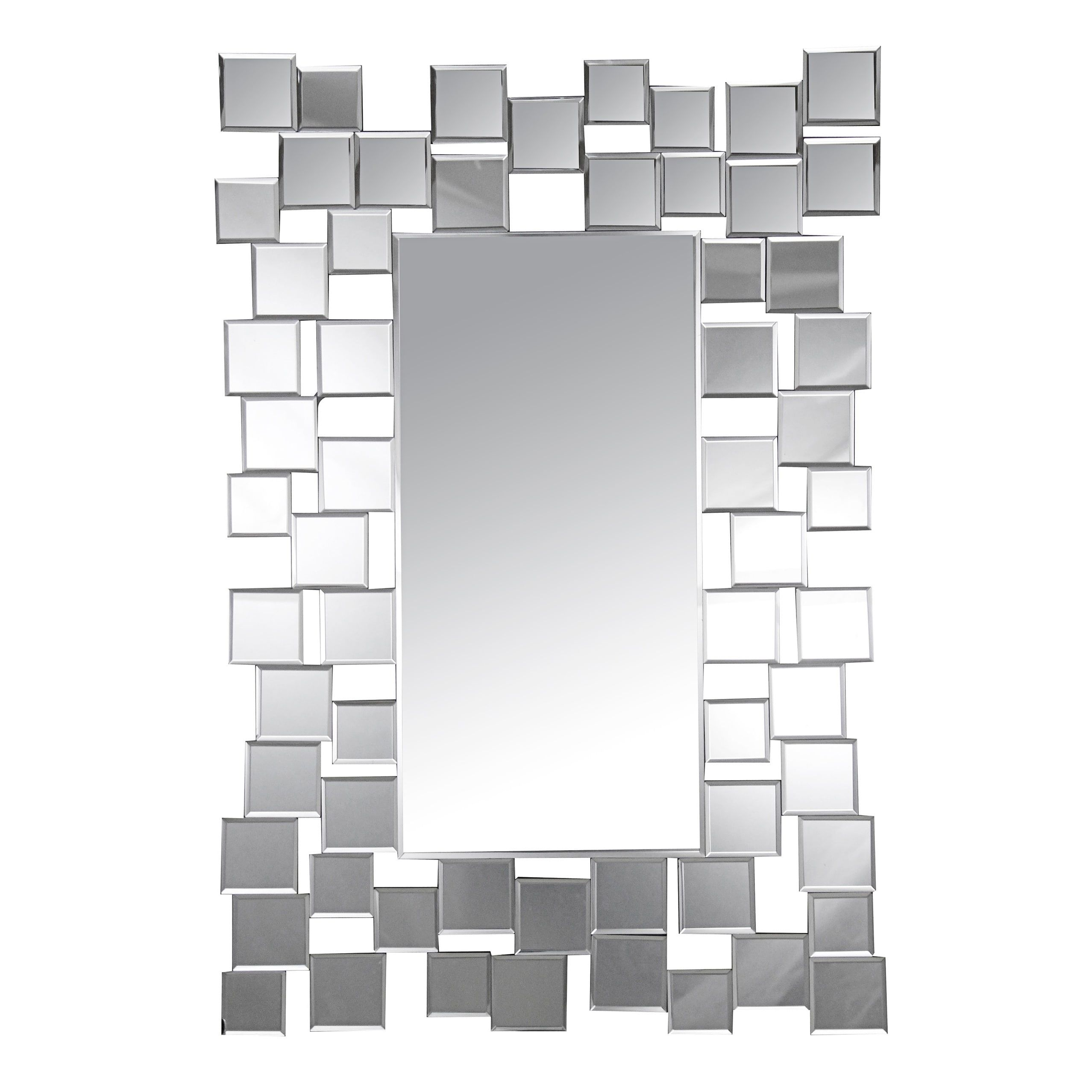 Abbyson Aiden Rectangle Wall Mirror Silver In 2019 Oversized