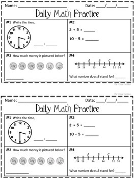 Daily Math Practice 100 For 2nd Grade Daily Math Practice Daily Math Math Practices
