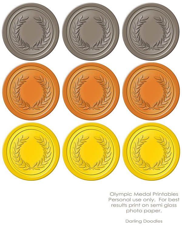 graphic about Printable Medals referred to as Olympic Printables Gold, Silver, Bronze! An Olympic Bash