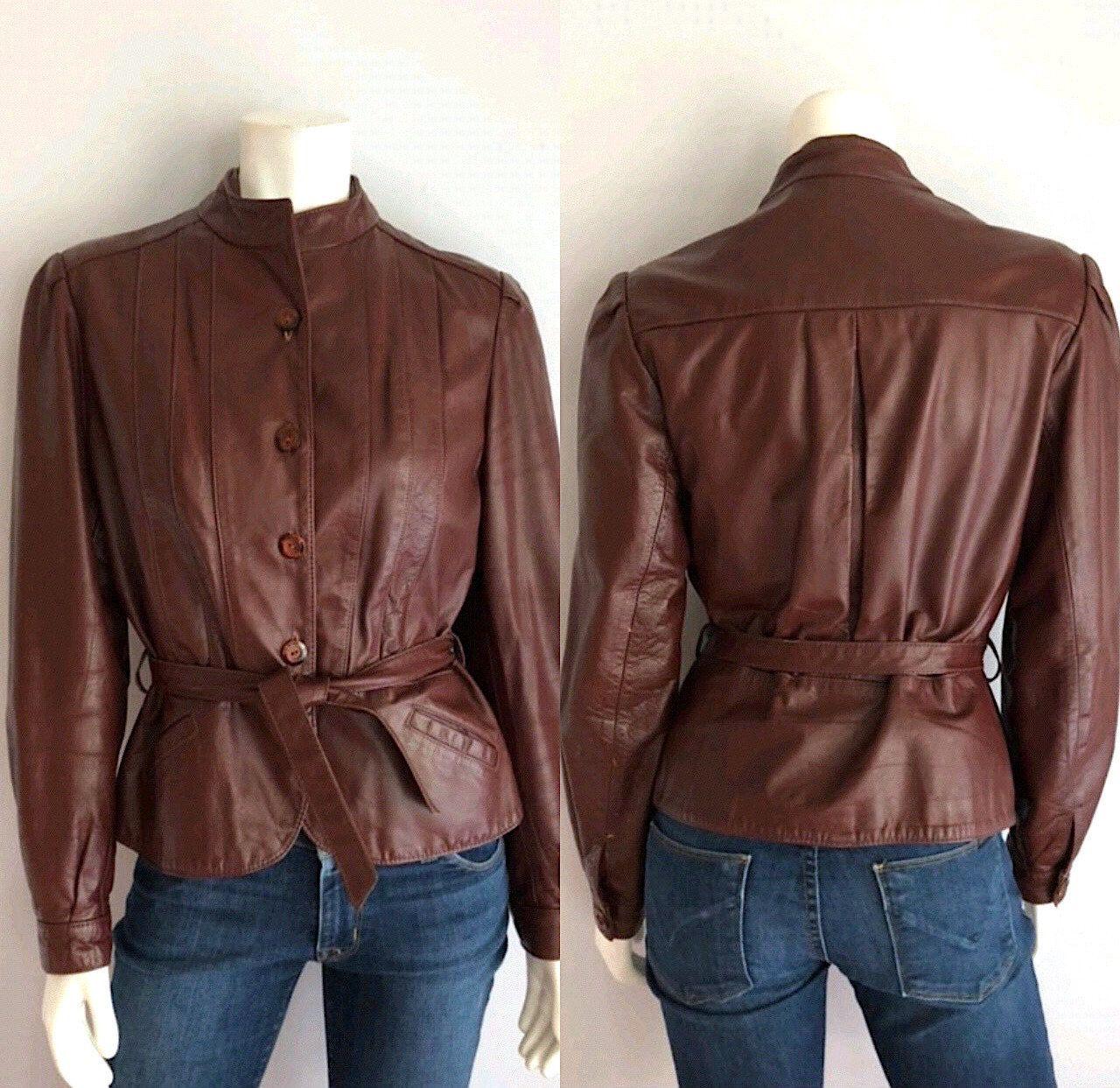 Vintage Women's 80's Wilson's, Leather Jacket, Oxblood
