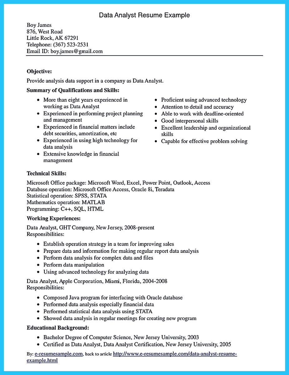 awesome Best Data Scientist Resume Sample to Get a Job, Check more at http: