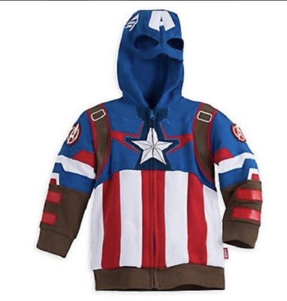 Disney Store Avengers Varsity Jacket Boys XXS 2 2T Iron Man Captain America Blue