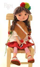 Detalles vestuario de muñeca,inspirados en etnias del norte de Chile