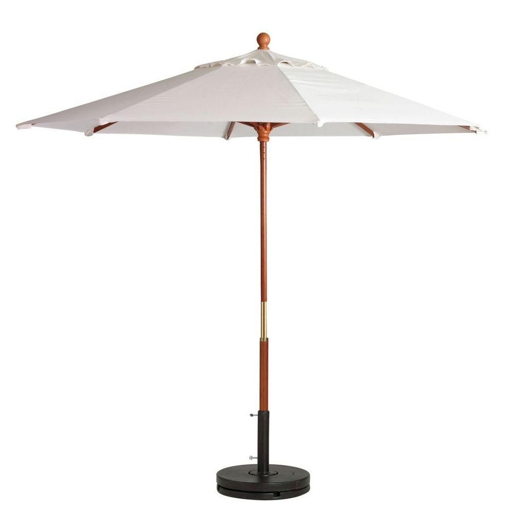 Grosfillex 98940431 White 7 Foot Market Umbrella With 1 1 2 Wooden Pole Market Umbrella Wooden Poles Outdoor Furniture Fabric