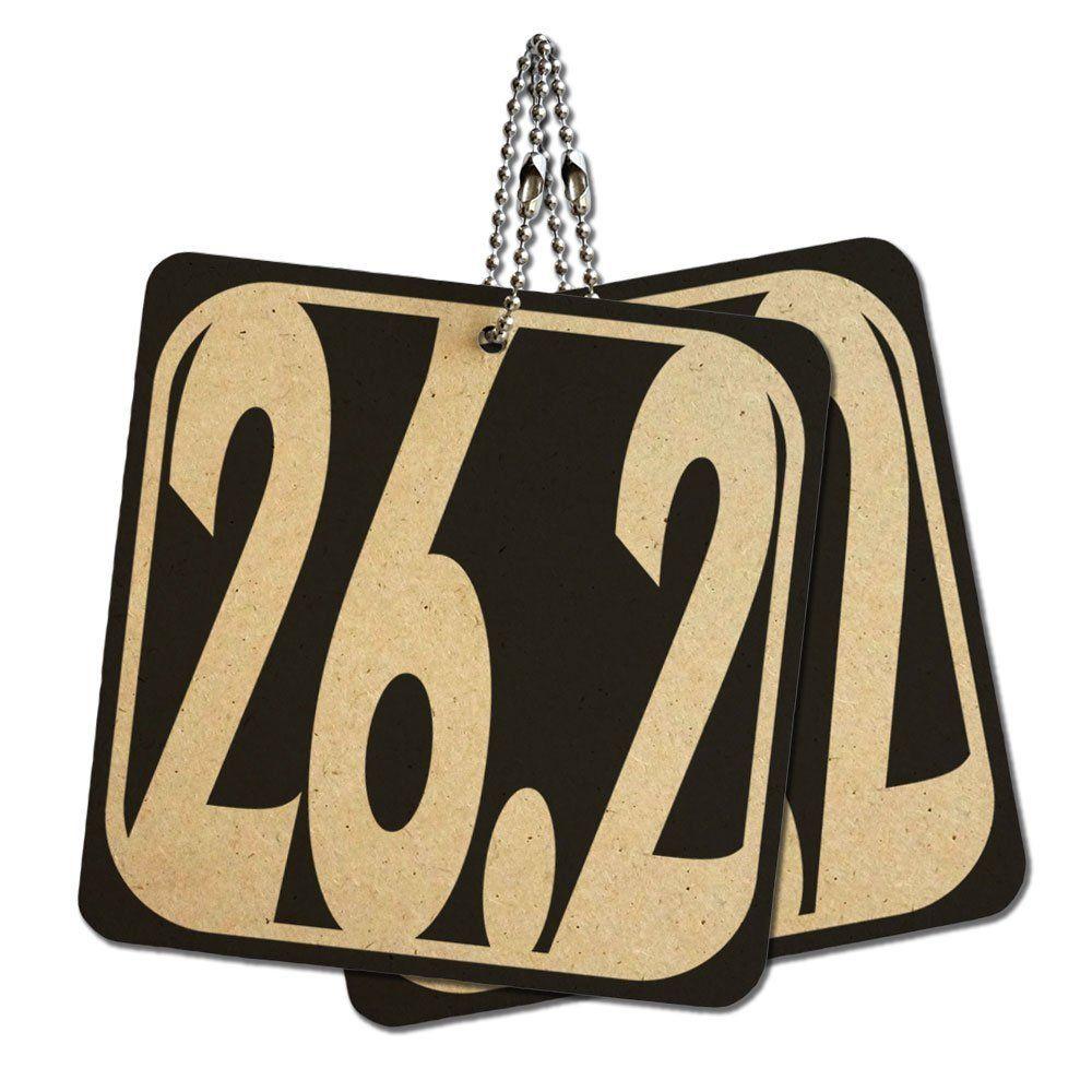 262 miles marathon white wood mdf 4 x 4 mini signs gift