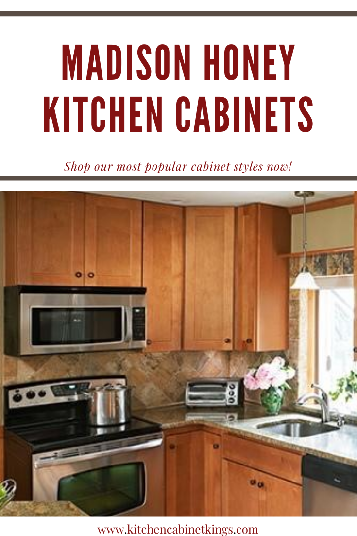 Madison Honey American Made Kitchen Cabinets In 2020 Kitchen Cabinets Assembled Kitchen Cabinets Kitchen