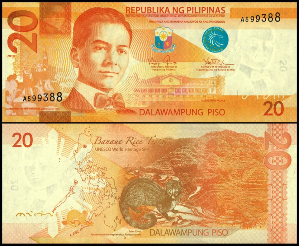 Philippine Peso Paper Currency Bank Notes World Coins