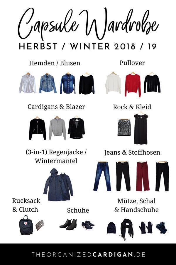 Herbst winter capsule wardrobe 2018 2019 capsule for Minimalistischer kleiderschrank