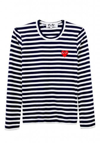 b27cc7b80373f8 Post image for Comme des Garçons Play Striped Tee
