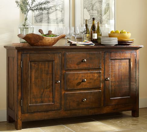 Benchwright Extending Dining Table Alfresco Brown Sideboard