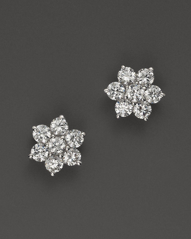 Diamond flower earrings diamond flower earrings in 14k