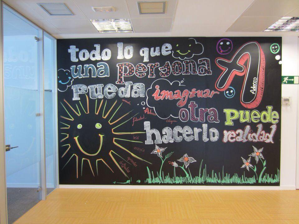 Mensajes positivos en nuestras paredes utilizando pizarra. | Ideas ...