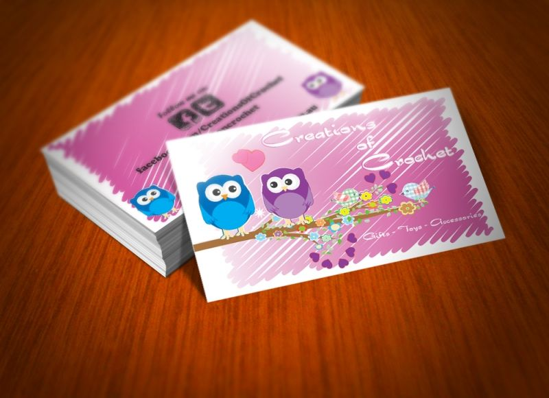 Creations of crochet business cards business cards and business creations of crochet business cards colourmoves Choice Image