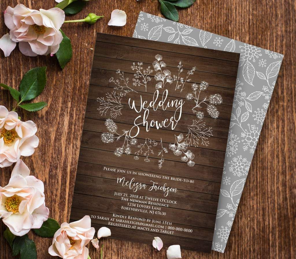 Wedding Shower Invitation Template Wedding Shower Invitation