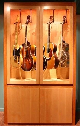Then I Don T Need A Full Room Humidifier Just Humidify This Little Box Guitarstand Music Room Design Guitar Display Guitar Storage
