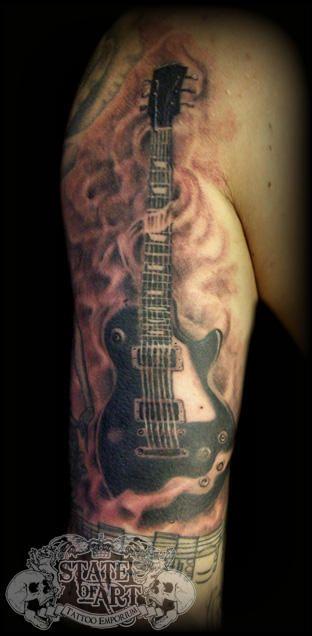 ac9b229801e7e State Of Art Tattoo on | Nice tattoo | Guitar tattoo, Tattoos, Music ...