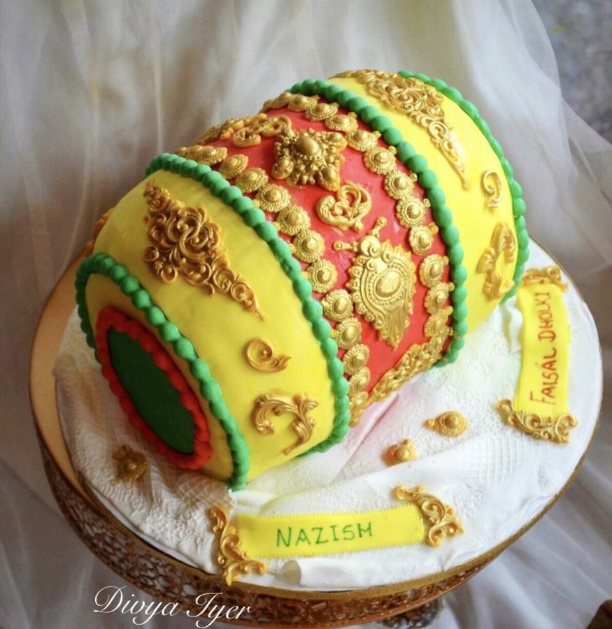 Dholki cake by divya iyer