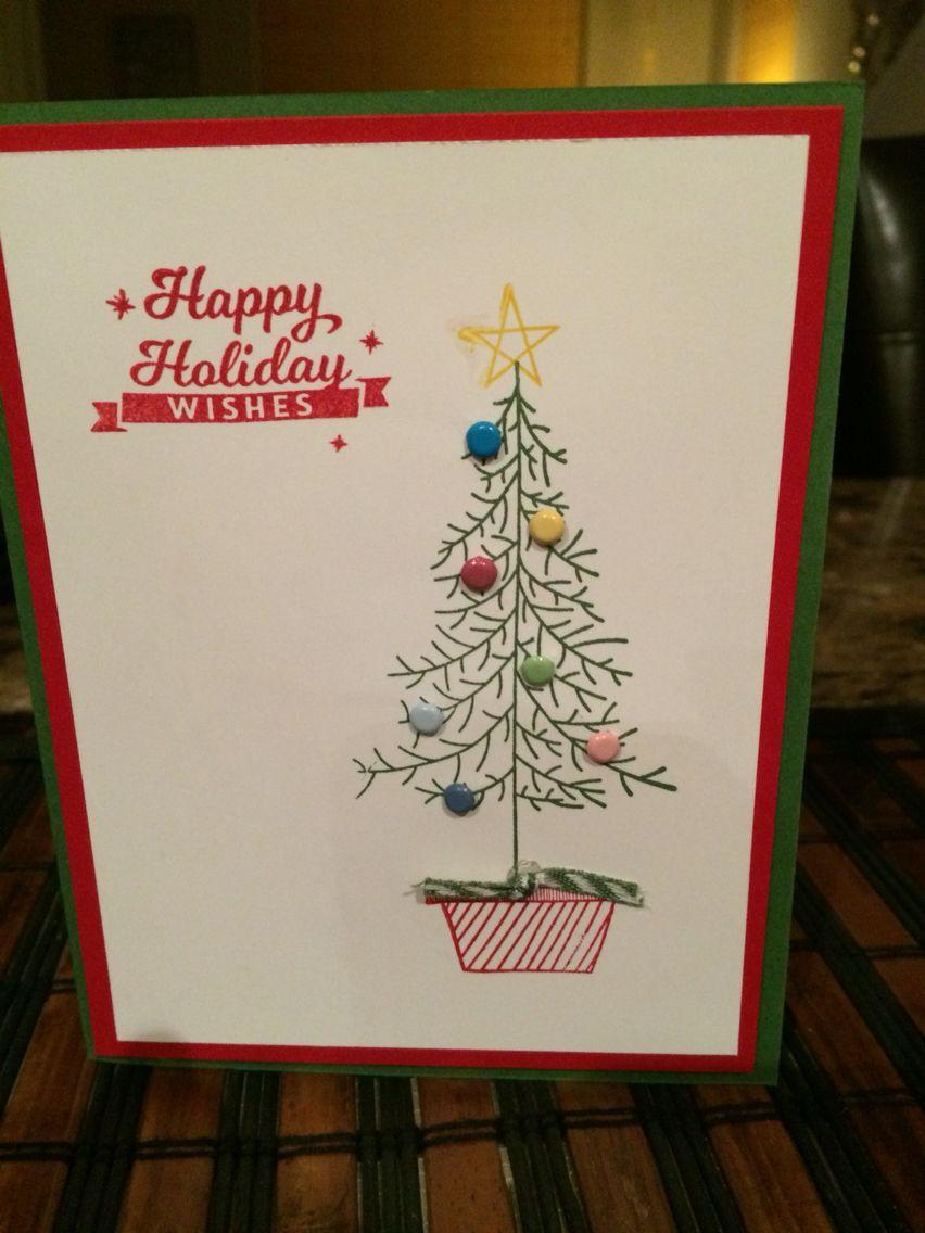 Christmas handmade cards pinterest