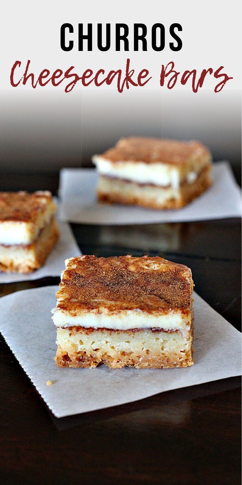 Churros Cheesecake Bars. Perfect Kid-friendly Mexican Dessert