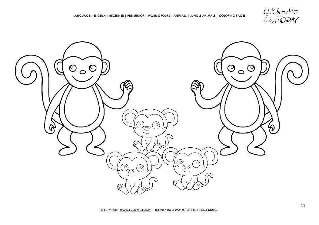 Pin By Jesica Wae On Coloring Pages Monkey Coloring Pages