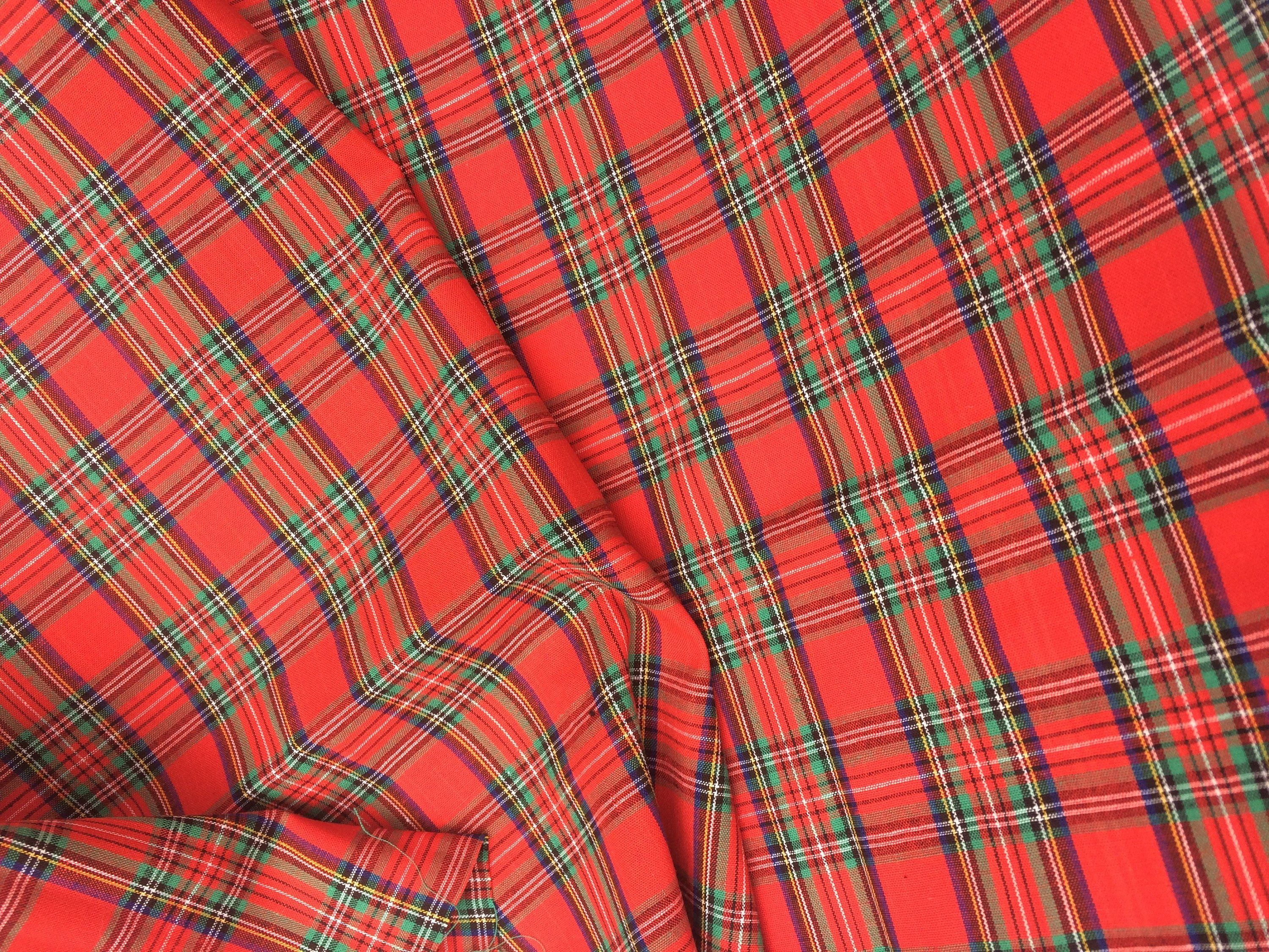 Christmas Tartan Fabric Sold Per Metre By Littlefabriccompany On Etsy