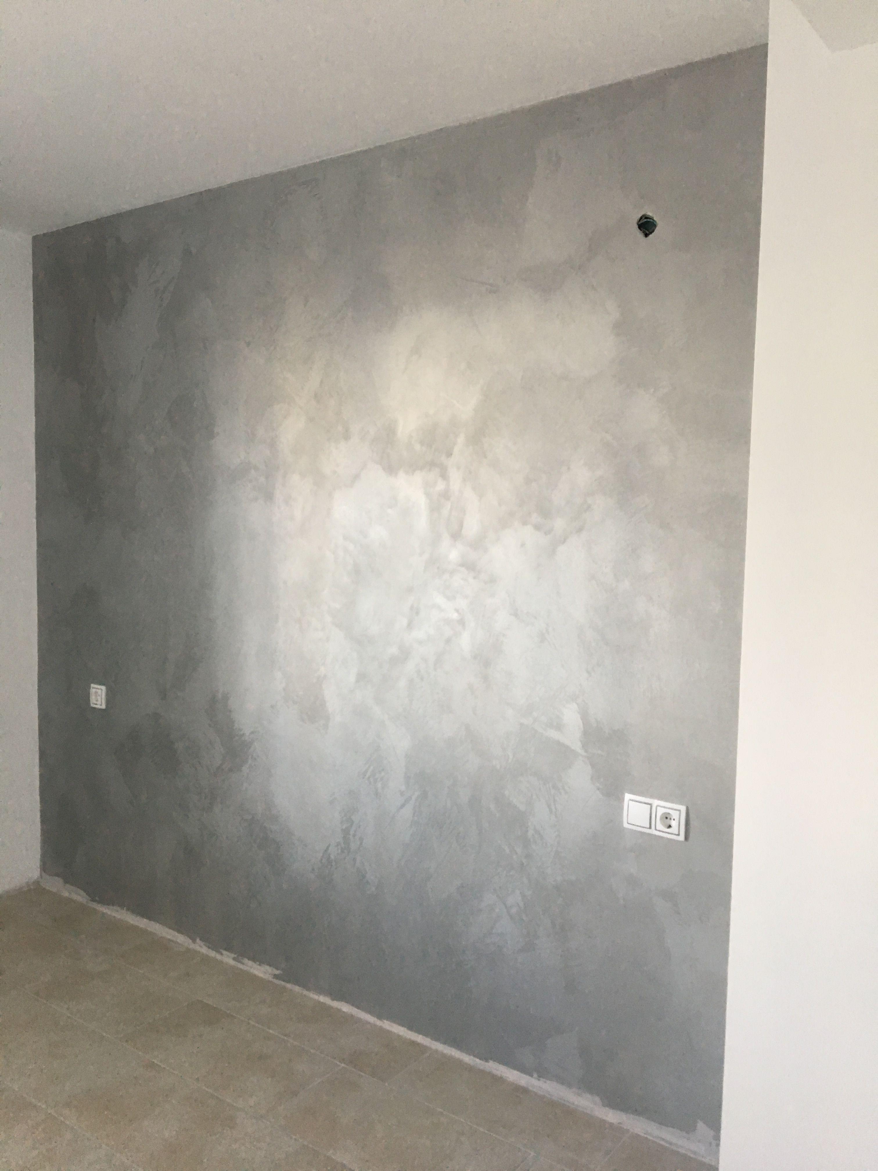 Efecto seda osaka damasco gris pinturas decorativas en - Pintura decorativa para paredes ...