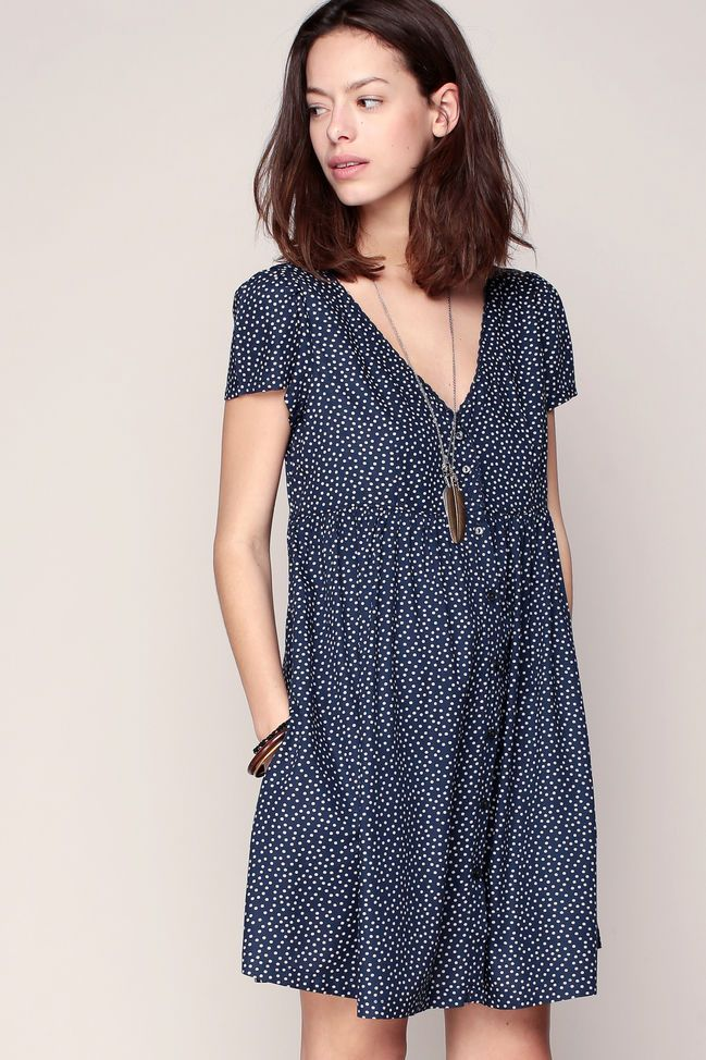 Robe fluide a pois
