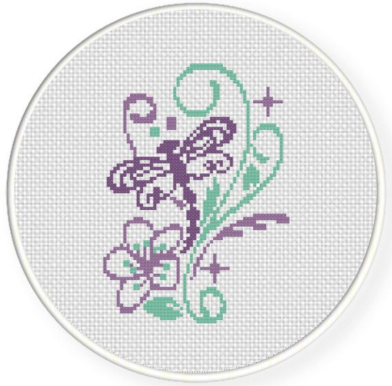 Charts Club Members Only: Dragonfly Sparkles Cross Stitch Pattern ...