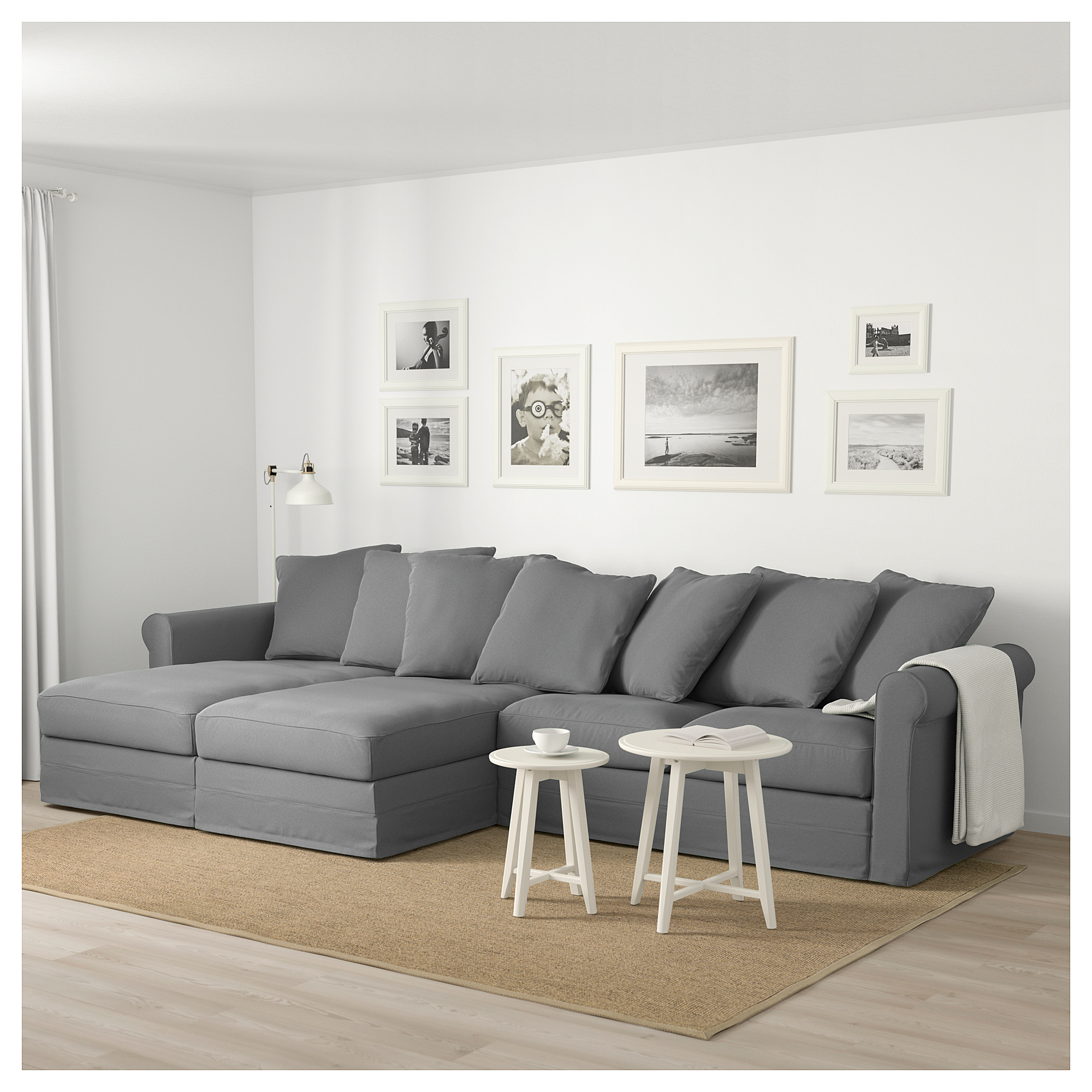 ikea gr nlid sectional 4 seat with chaise ljungen medium gray rh pinterest com