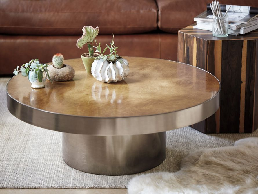 Burl Coffee Table Arhaus Furniture 39 Dia Furniture Table